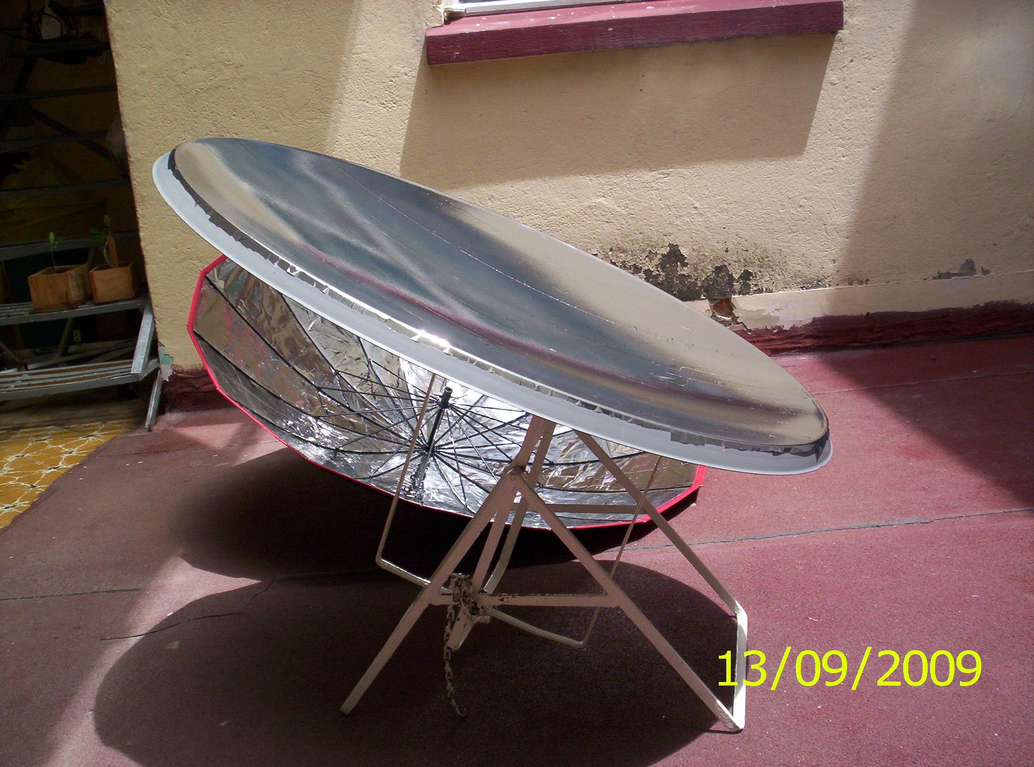 Construcci n de una cocina solar parab lica con una antena - Precios de antenas de television ...