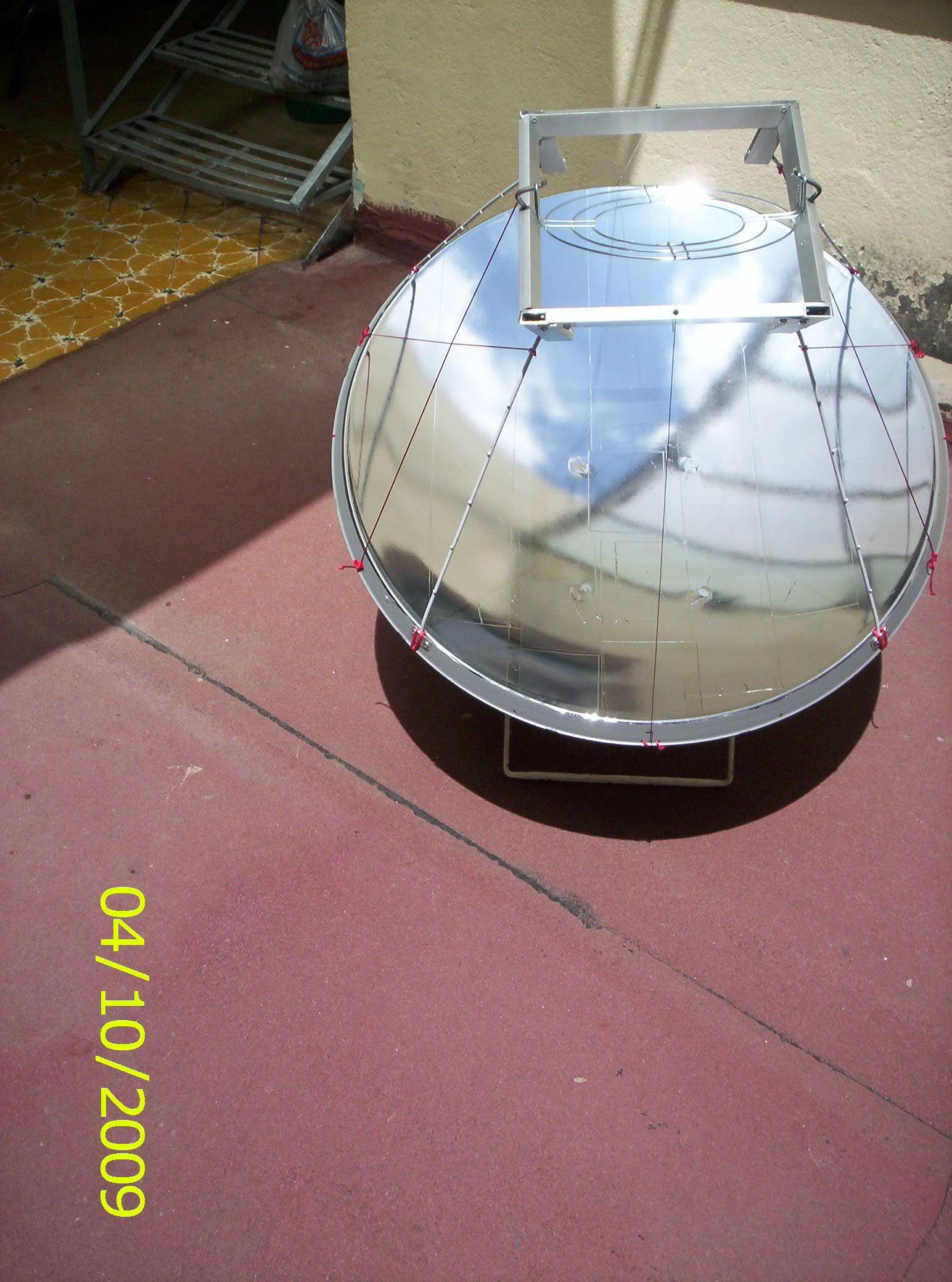 Construcci n de una cocina solar parab lica con una antena for Planos para construir una cocina solar