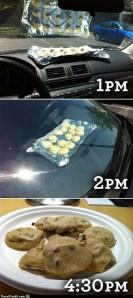 Horneando galletas en el coche
