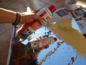 Reflejo pegamento spray