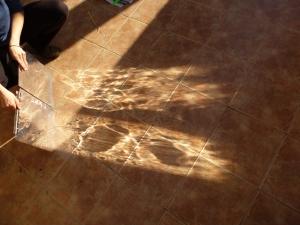 Luz reflejada espejo mylar casero