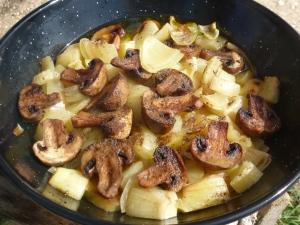 Guso de patatas y champiñones